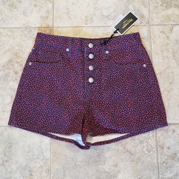 Juicy Couture Pants - NWT JUICY COUTURE BLACK LABEL BLUE MOM JEAN SHORTS